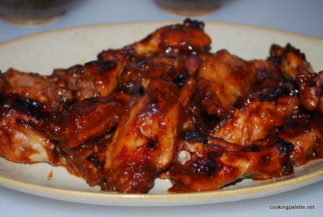 Крылышки с подливкой в духовке