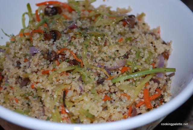 Кус-кус с овощами и грибами (3)