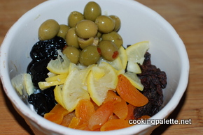 chicken or lamb tajine with dry friuts and olives (9)