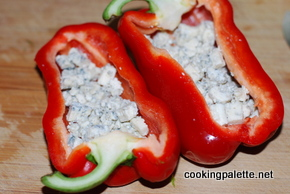 roasted peppers stuffed with bluecheese and tomatoes (2)