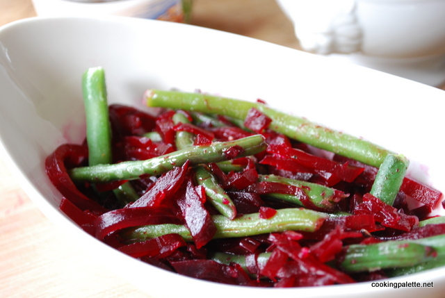 beet and green bean salad with honey lemon dressing (6)