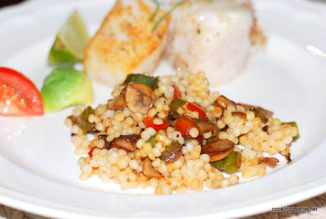 israeli couscous with mushrooms and peppers (12)