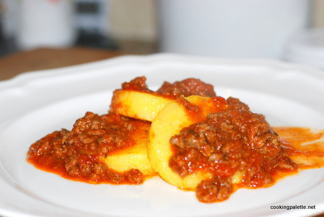 polenta with meat sauce  (12)