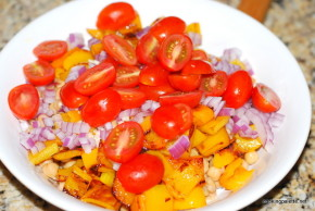 garbanzo pepper tomato salad (5)