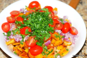 garbanzo pepper tomato salad (6)