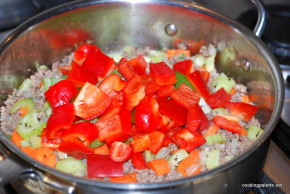 garden veg meat sauce farfalle (11)