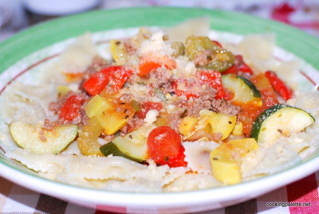 garden veg meat sauce farfalle (16)