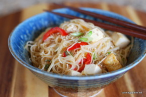veg and tofu rice noodles (8)