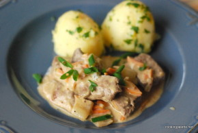 beef liver whole grain mustard sour cream sauce  (11)