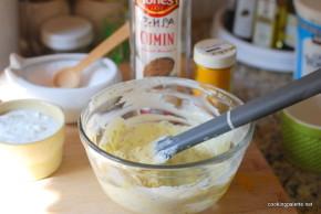 two yogurt sauces fried zucchini  (4)