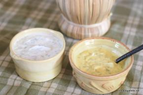 two yogurt sauces fried zucchini  (5)