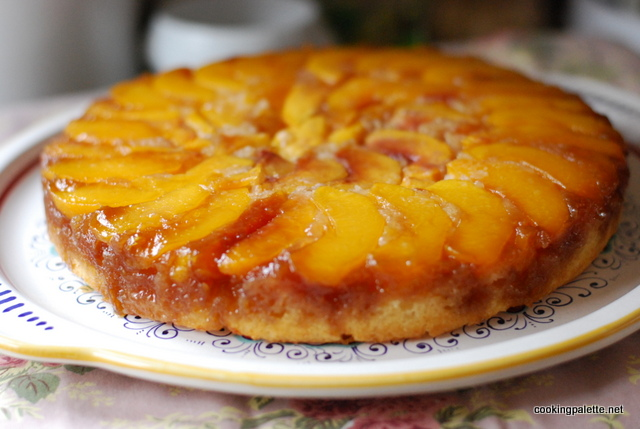 upside down peach cake  (10)
