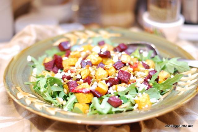 roasted pumpkin beet salad (13)