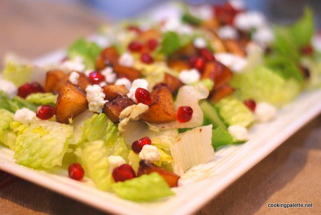 balsamic apple pomegranate salad (5)