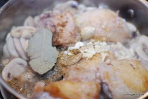 chicken leek and mushroom sauce (5)