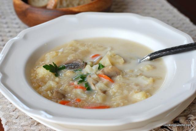 mushroom cauliflower bulgur soup (15)