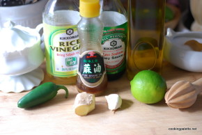 soy ginger chicken on arugula (1)