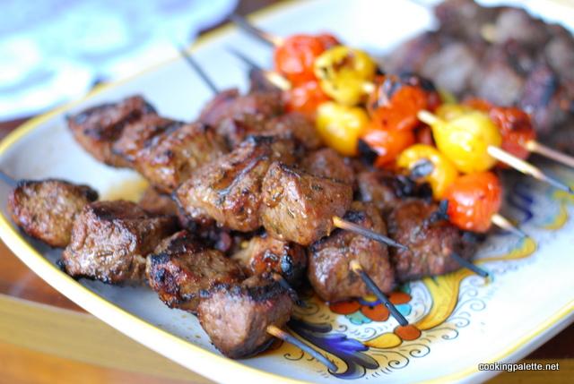 harissa marinated lamb kebabs (16)