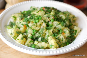 potato salad with green pea (4)