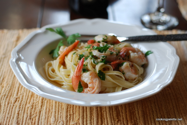 shrimp scampi pasta (16)