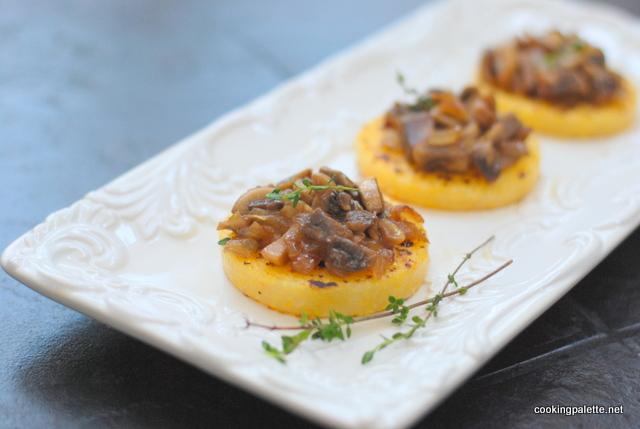 mushroom ragout polenta medalions (11)
