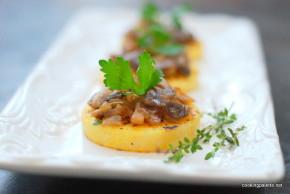 mushroom ragout polenta medalions (16)