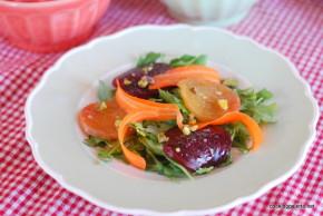 beet carpaccio carrot ribbons salad (5)