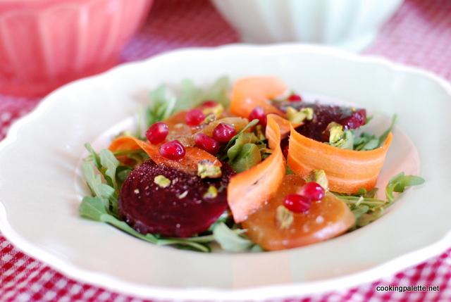beet carpaccio carrot ribbons salad (9)