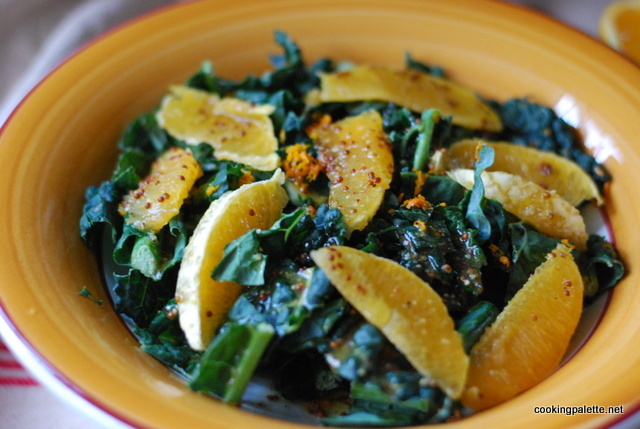 kale orange salad orange vinaigrette (9)