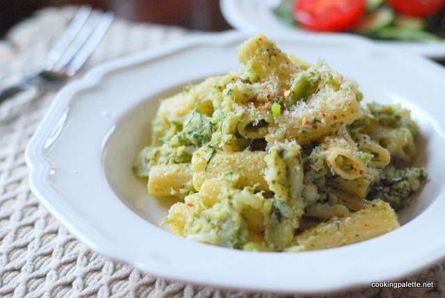 rigatoni with cauliflower broccoli cream (6)