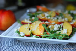 nectarine soft cheese salad (7)